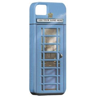 Funny Baby Blue British Phone Box Personalised