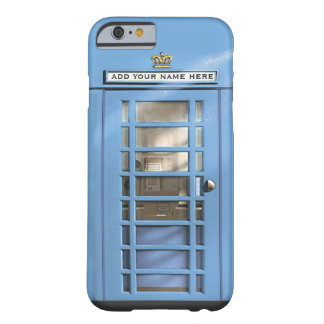 Funny Baby Blue British Phone Box Personalized Barely There iPhone 6 Case