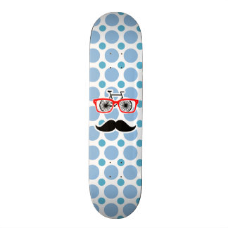 Funny Baby Blue Mustache; Hipster 19.7 Cm Skateboard Deck