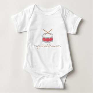 Funny baby bodysuit - professional drummer