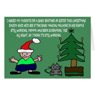 Funny baby Christmas Greeting Card