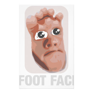 Funny baby foot face stationery paper