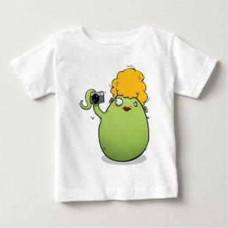 Funny Baby Girl T-shirt - Green Monster & Camera