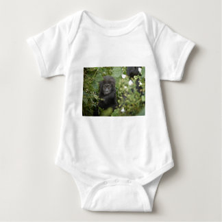 funny baby mountain gorilla, beringei beringei baby bodysuit