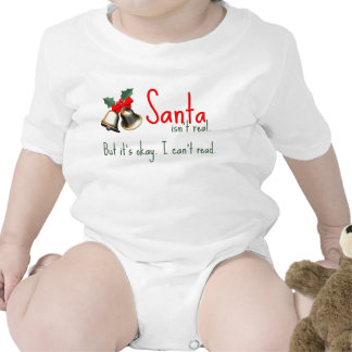 Funny Baby Santa Outfit Bodysuit