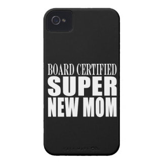 Funny Baby Showers New Mothers Super New Mom iPhone 4 Case-Mate Case