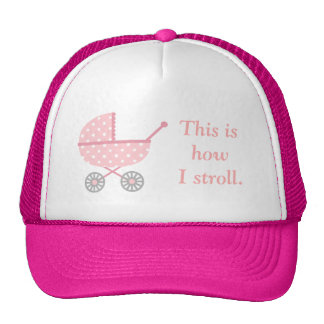 Funny Baby Stroller For Mommy To Be Trucker Hat