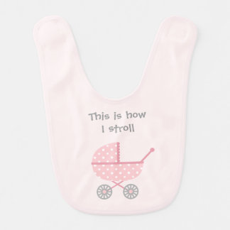 Funny Baby Stroller For newborn Girl Bib