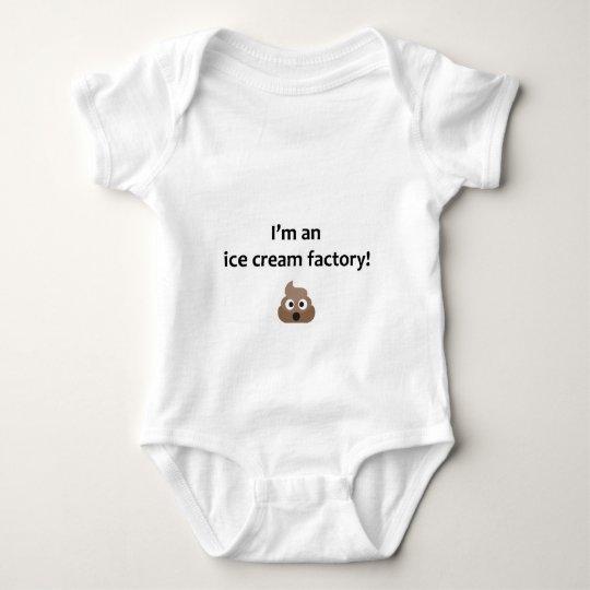Funny baby vest - poo ice cream maker