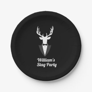 Funny Bachelor Stag Party Custom Paper Plate