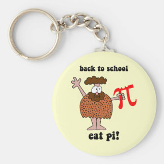 Funny back to school math basic round button key ring