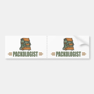Funny Backpacking Bumper Sticker
