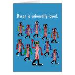Funny Bacon Birthday Card Gift