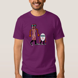 Funny Bacon & Egg Purple T-shirt
