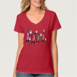 Funny Bacon & Eggs Hipster Red T-shirt