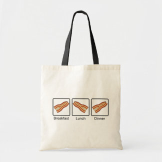 Funny Bacon for Breakfast, Lunch and Dinner Tote Bag