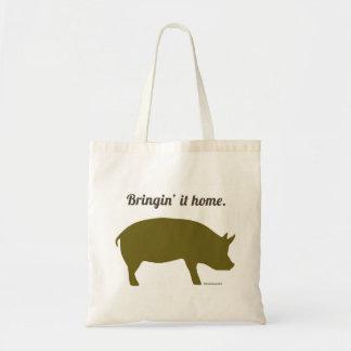 Funny bacon market bag