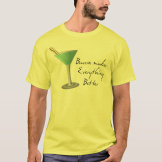 Funny Bacon Martini Shirt