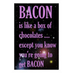 Funny Bacon Poster