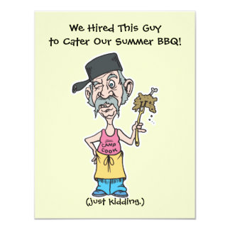 funny bad camp cook summer BBQ party Card