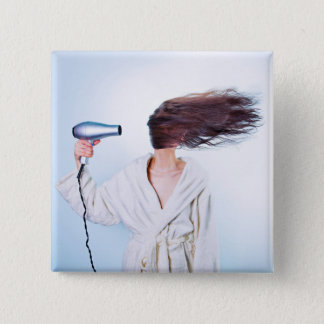 Funny Bad Hair Day button