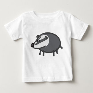 Funny Badger on White Baby T-Shirt