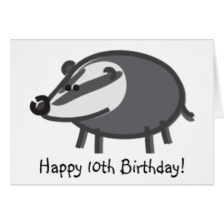 Funny Badger on White Greeting Card