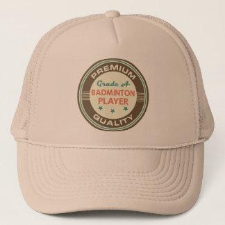 Funny Badminton Player (Premium Quality) Gift Trucker Hat