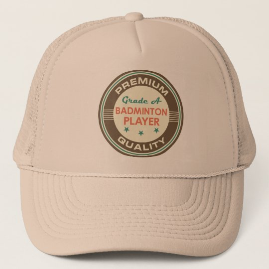 Funny Badminton Player (Premium Quality) Gift Trucker Hat