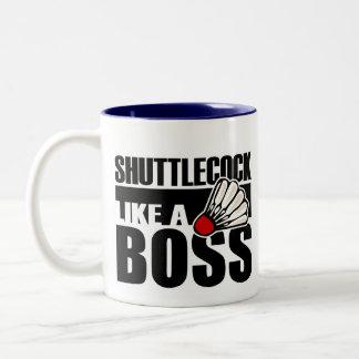 Funny Badminton Shuttlecock Two-Tone Coffee Mug