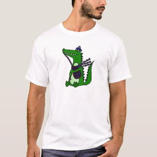 Funny Bagpipe Playing Alligator T-Shirt