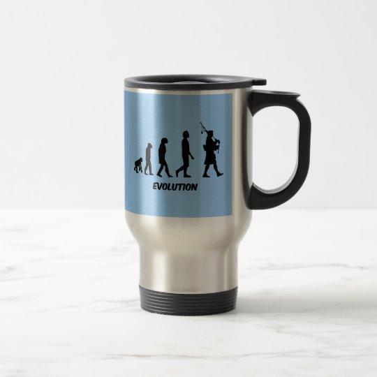 Funny bagpipes travel mug