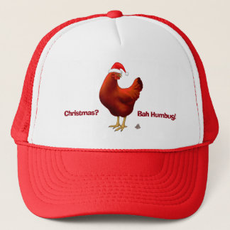 Funny Bah Humbug Chicken in Santa Hat Poops xmas