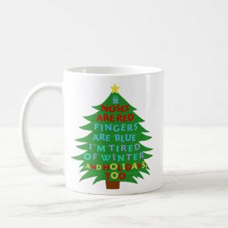 Funny Bah Humbug Christmas Poem Basic White Mug