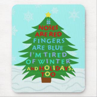 Funny Bah Humbug Christmas Poem Mouse Pad