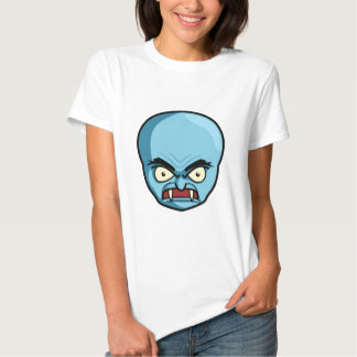 Funny Bald Blue Demon Tee Shirts