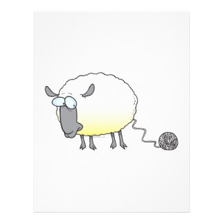 funny ball of yarn cloned sheep cartoon flyer