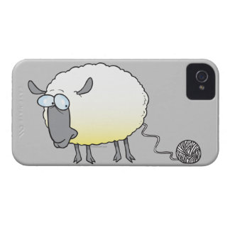 funny ball of yarn cloned sheep cartoon iPhone 4 Case-Mate case