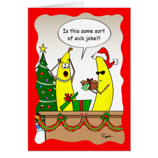 Funny Banana Christmas Card - Custom Holiday Cards