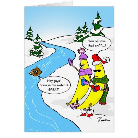 Funny Banana Christmas Card | Custom Holiday Cards