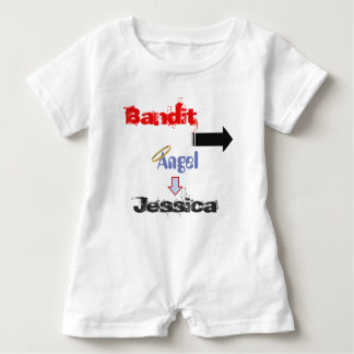 "Funny ""Bandit"" Baby Romper for Twins Baby Bodysuit"