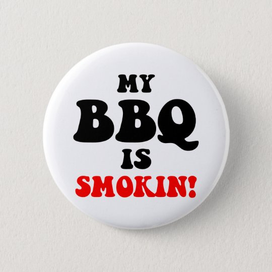 Funny barbecue 6 cm round badge