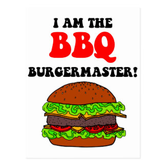Funny barbecue post card