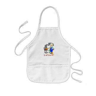 Funny Barbeque Design - Is Well Done OK? Kids Apron