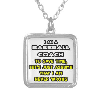 Funny Baseball Coach T-Shirts and Gifts Necklace