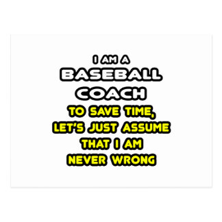 Funny Baseball Coach T-Shirts and Gifts Post Cards
