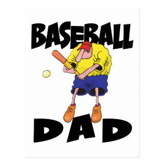 Funny Baseball Dad Father's Day Postcard