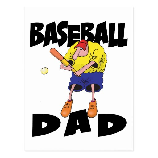 Funny Baseball Dad Father's Day Post Card