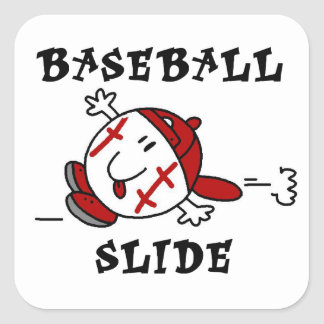 Funny Baseball Slide T-shirts and Gifts Sticker
