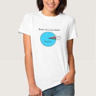 Funny Basic Human Needs for computer enthusiasts Shirts